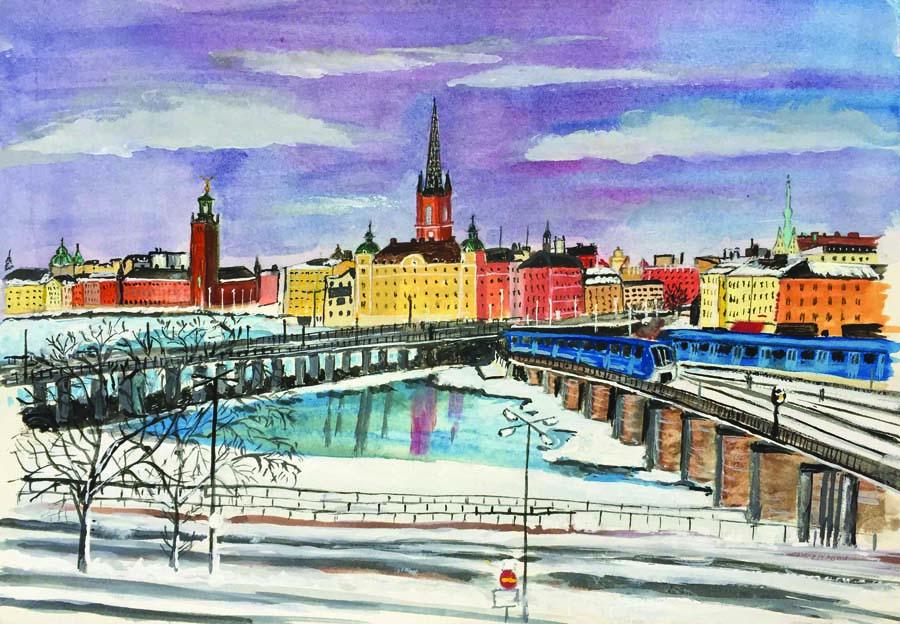 Vinter över Riddarholmen