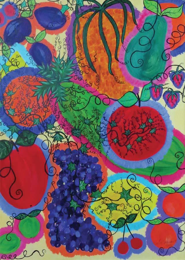 Vykort frukt